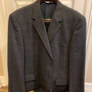 Pronto Uomo Gray dark blue tweed  suit jacket